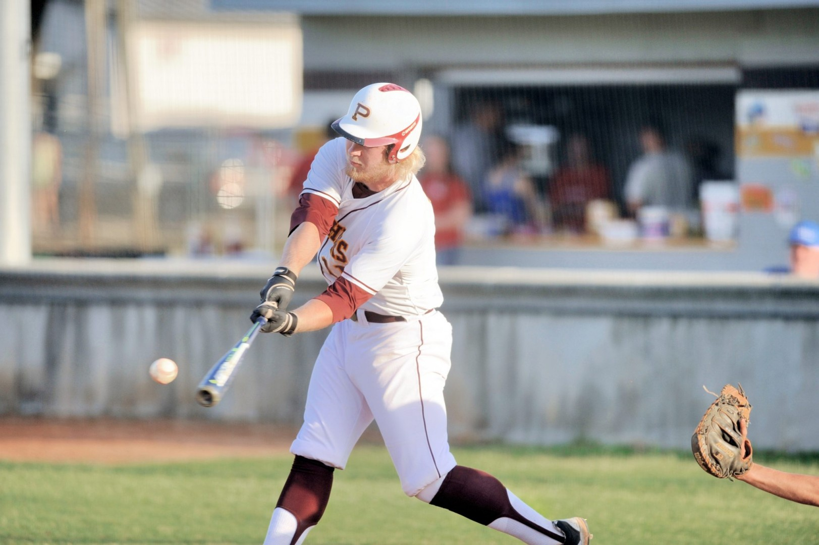 Martens takes a swing for the Perry Panthers