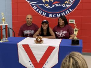 Veterans High School's A'Mira Askew signs with Missouri State University