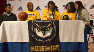 VHS basketball standout Stacie Jones signs with Kennesaw State