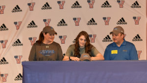 Veterans High's Meredith Buchanan signs volleyball scholarship with the U.S. Merchant Marine Academy