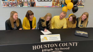 HoCo's Bethany Anderson signs scholarship with Anderson University